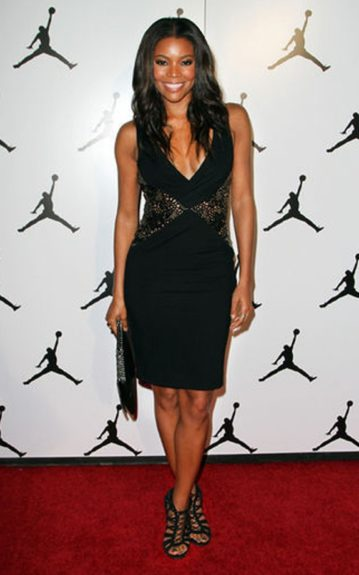 This all over strappy sandy is a bad girl accessory to her sweet LBD