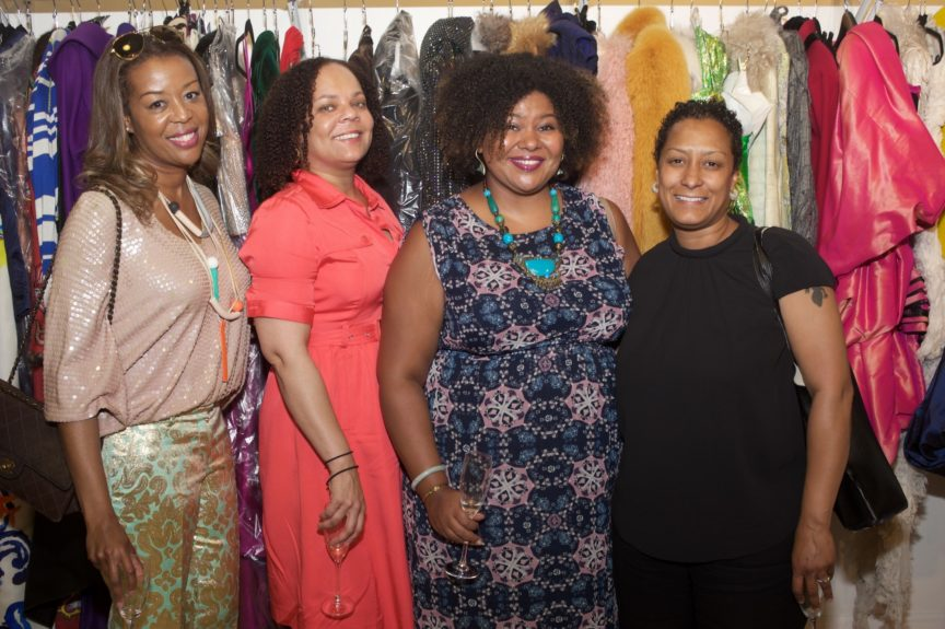 Jada Russell (High Style PR), Venita Griffin, Patrice Grell Yursik (Afrobella.com), Melissa Cherry (VP of Cultural Tourism & Neighborhoods, Choose Chicago)
