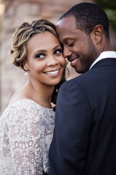 Erica and Jamal Brunt share a happy moment