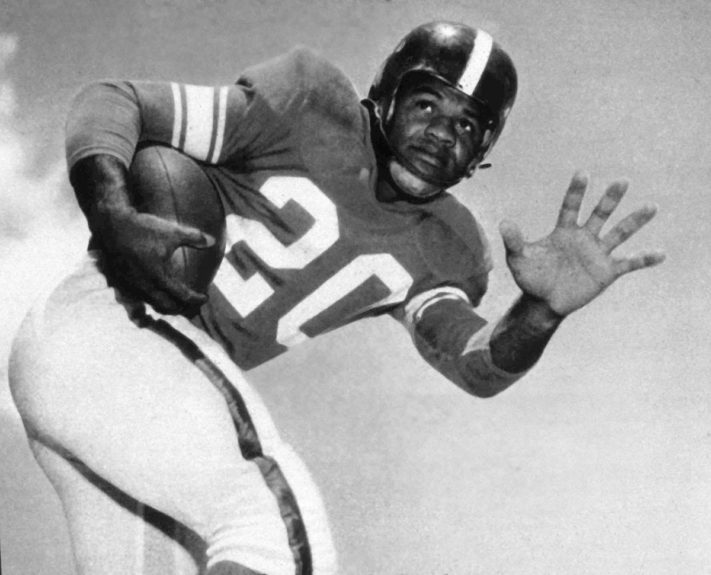 <p> 	<strong>1949</strong></p> <p> 	George Taliaferro was the first Black man to be drafted as a quarterback. He ended up playing several positions in six NFL seasons</p>