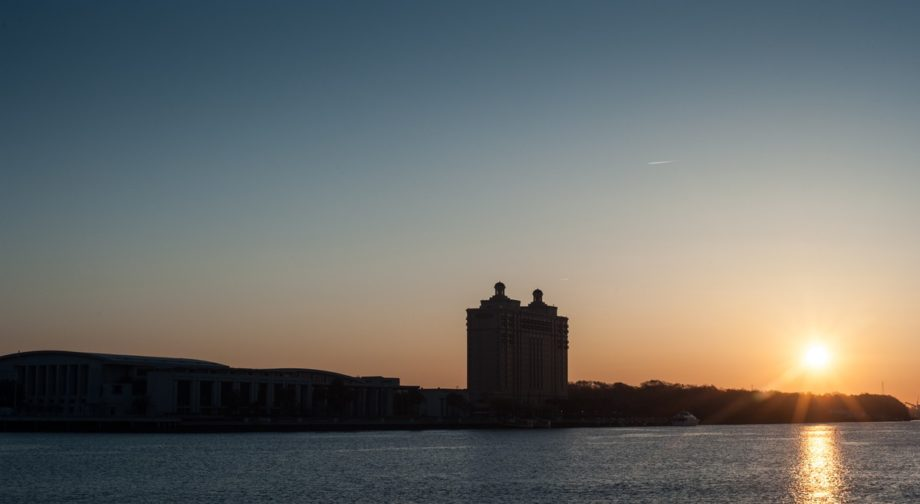 Sunrise in Savannah before the start of the ride... Hollywood director F. Gary Gray was tapped to wear the Freedom Jacket on a ride from Atlanta to Daytona Beach for Bike Week.