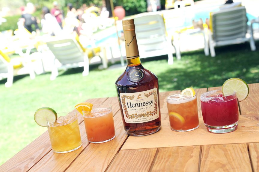"Guests sip on festive Hennessy V.S mixed drinks during the Hennessy V.S brunch celebrating the 20<sup>th</sup>anniversary of Nas' album ""Illmatic,"" held during Coachella in Palm Springs on April 13."