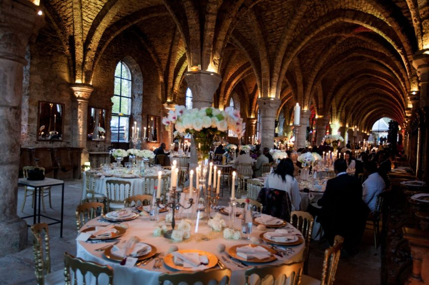 The After Party: The guests were seated in a royal inspired venue in Paris
