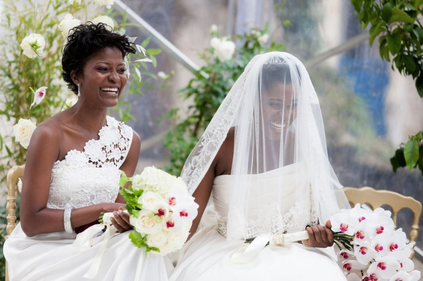 Friends 'till the End: The maid of honor is so happy for her friend on her wedding day