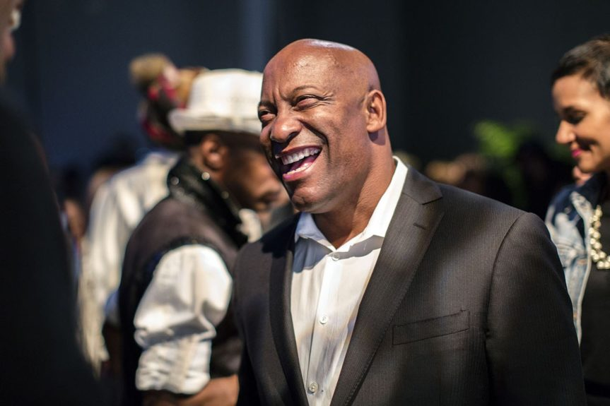 Director John Singleton attends an exclusive dinner at Left Bank on the NYC stop of the Bessie 81 TheatreTour