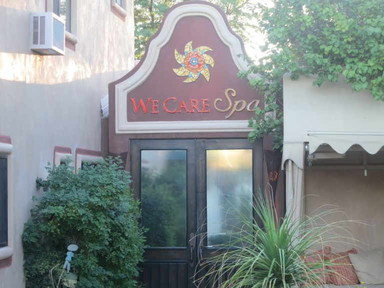We Care Detox Spa and Spiritual Retreat entrance in Desert Valley