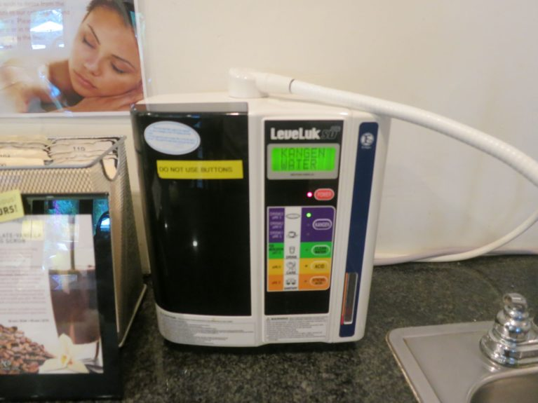 Only alkaline water is used at We Care Spa.