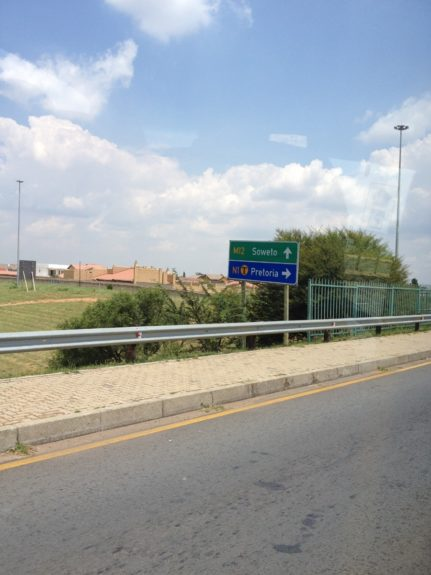 Directional sign to Soweto