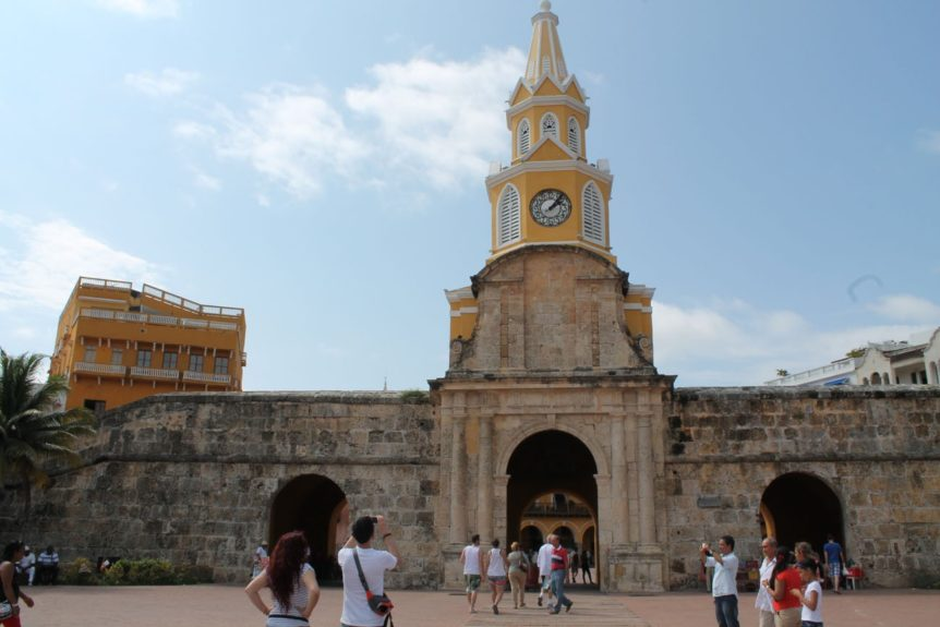 View of the walled city from Cartagena