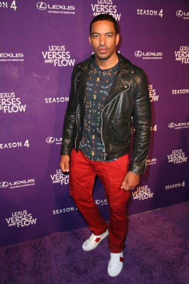 Host Las Alonzo tapes 'Verses and Flow' at Siren Studios in Hollywood