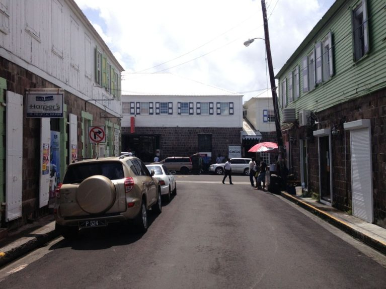 Downtown Basseterre, the capital city