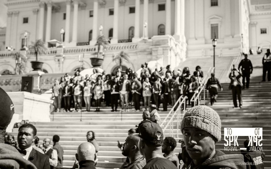 <p> 	WASHINGTON, D.C.: 20th Anniversary of the Million Man March, Washington D.C., October 10, 2015. (To Speak No Evil/Alvin C. Jacobs, Jr.)</p>