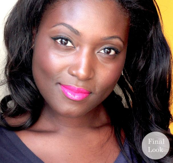 Love it! Hot pink lips for summer that will last throughout the scorching days.