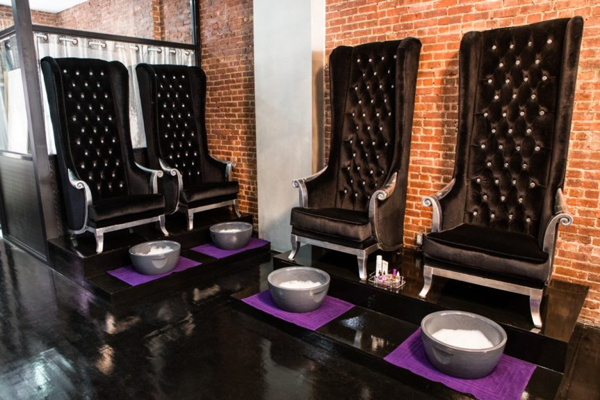 The spa pedicure section is fit for a princess