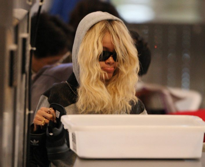 March 26, 2012: Rihanna arrives at LAX airport in Los Angeles, CA to catch a flight.