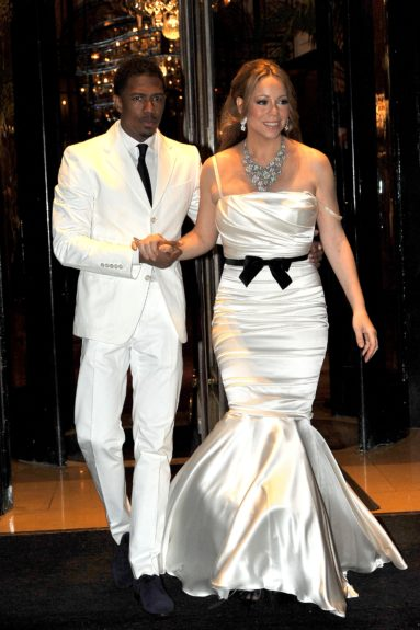 Mariah Carey and Nick Cannon celebrate their four year anniversary in Paris, France.
