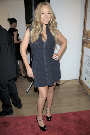 Mariah Carey attending the Project Canvas exhibition at Opera Gallery in New York City.