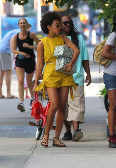 Solange Knowles joins Beyonce to celebrate her first Mother's Day with Blue Ivy at the couples home in New York City.