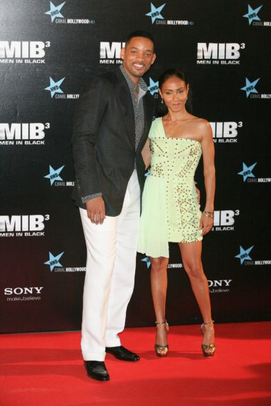 "Will Smith and Jada Pinkett Smith attending the premiere of ""Men In Black 3"" at La Caja Magica in Madrid, Spain."