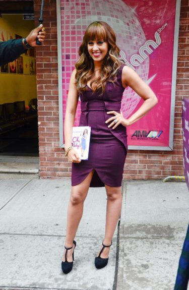 Tia Mowry makes an appearance on 'The Wendy Williams Show' in New York City to promote her book, 'Oh, Baby! Pregnancy Tales and Advice from One Hot Mama to Another.'
