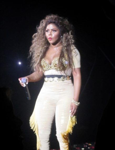 Lil Kim performing at the Paradise Theater in the Bronx borough of New York City.