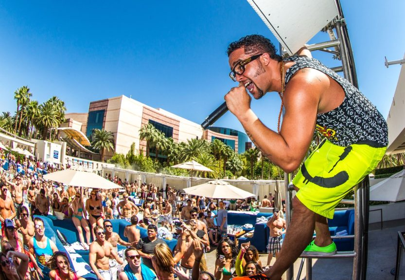 "Sky Blu of LMFAO launches DJ residency (""Who Wants To Party?"") at Wet Republic Ultra Pool in Las Vegas, NV."