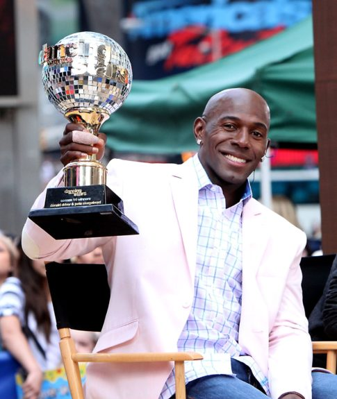 Donald Driver at ABC Studios in New York City for an appearance on 'Good Morning America' to promote winning, 'Dancing With The Stars'.