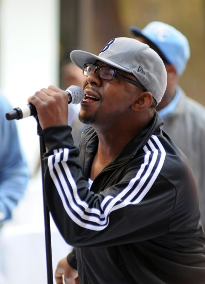 Bobby Brown performs on NBC's 'Today' at Rockefeller Plaza in New York City.