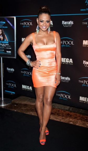 Christina Milian photographed at the 'Pool After Dark' event in Atlantic City, New Jersey.
