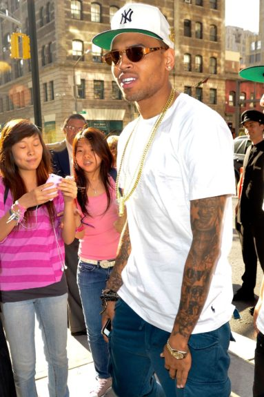 Chris Brown spotted shopping in New York City.