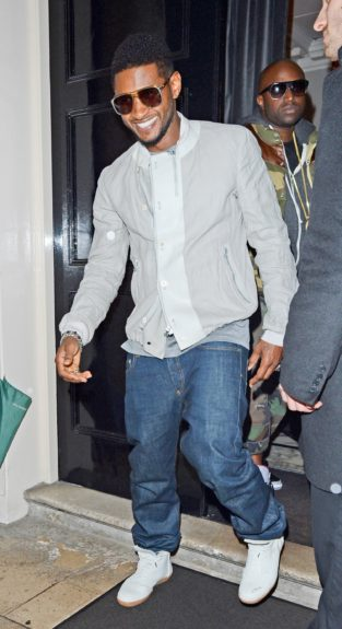 Usher heads to an after party in London, UK.