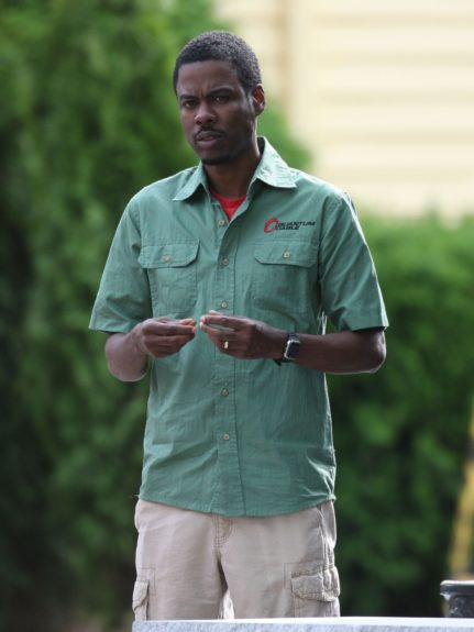 Chris Rock on the movie set of 'Grown Ups 2' in Marblehead, MA.