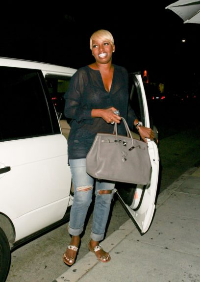 NeNe Leakes from the 'Real Housewives of Atlanta' dines at Mr.Chow Restaurant in Beverly Hills, California.