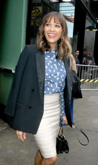 "Rashida Jones at ABC Studios in New York City for an appearance on 'Good Morning America' to promote ""Celeste and Jesse Forever."""