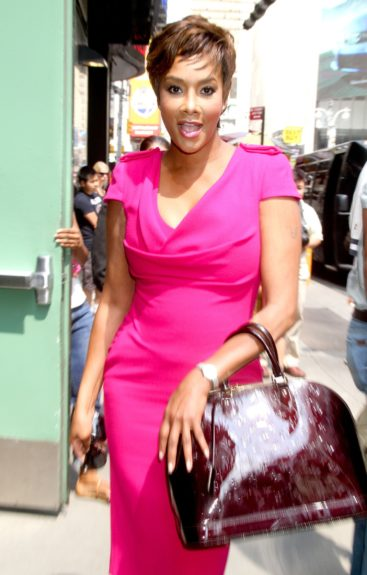 Vivica A. Fox at 'Good Afternoon America' to talk about 'Are 'Manly Men' A Dying Breed?' in New York City.