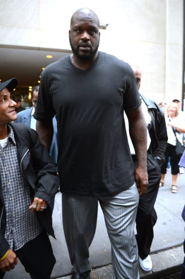 Shaquille O'Neal leaving the NBC Studios after making an appearance at The Today Show in New York City.