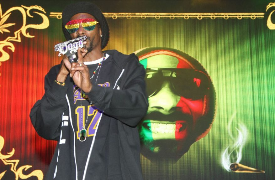 Snoop Dogg performing at the 94.1 Last Damn Show 2012 at the Tampa Bay Times Forum in Tampa, Florida.