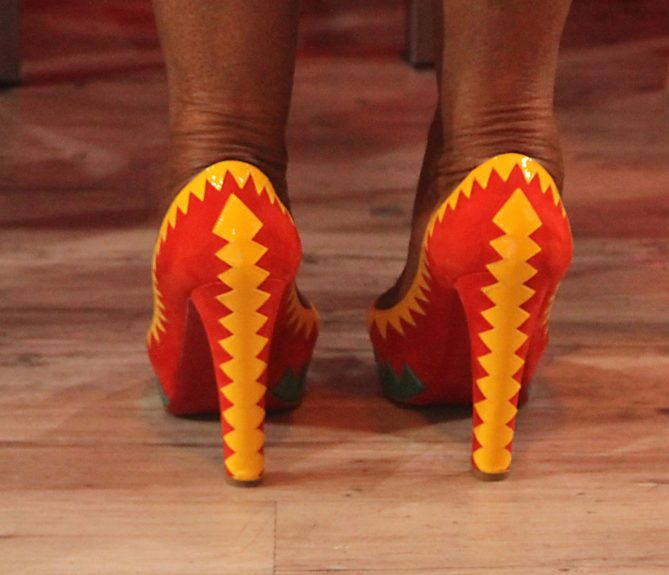 Take a closer look at Lady O's shoes!