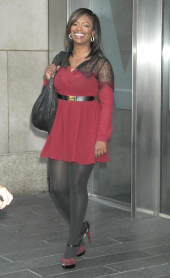 Kandi Burruss at VH1 Morning Buzz to talk about new season of Real Housewives of Atlanta in New York City.
