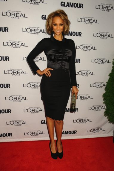 Tyra Banks attends the 2012 Glamour Women of the Year Awards, held at Carnegie Hall in New York City.