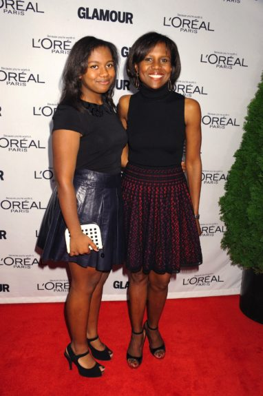 Leila Roker and Deborah Roberts attends the 2012 Glamour Women of the Year Awards, held at Carnegie Hall in New York City.