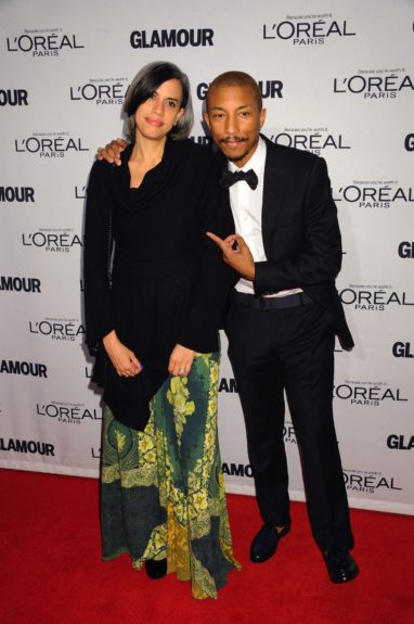 Pharrell Williams and Mimi Valdes attends the 2012 Glamour Women of the Year Awards, held at Carnegie Hall in New York City.