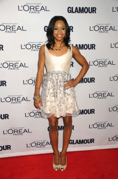 Gabby Douglas attends the 2012 Glamour Women of the Year Awards, held at Carnegie Hall in New York City.
