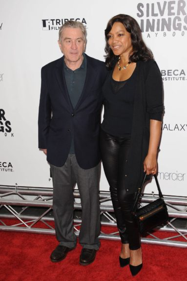 Robert De Niro and Grace Hightower arriving at the 'Silver Linings Playbook' Premiere in TriBeCa in New York City.