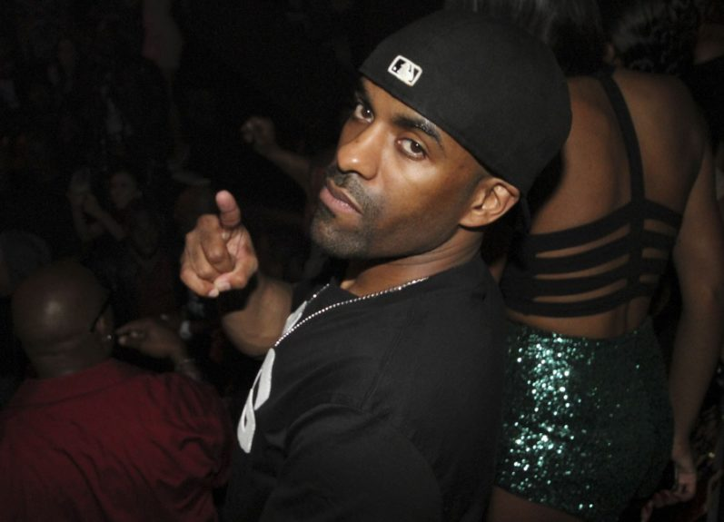 DJ Clue also came out to party with T.I.