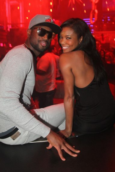 Dwyane Wade and Gabrielle Union attending LIV On Sunday at LIV nightclub in Miami Beach, Florida.