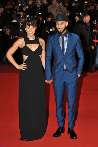 Alicia Keys andSwizz Beatz attending the NRJ Music Awards in Cannes, France.