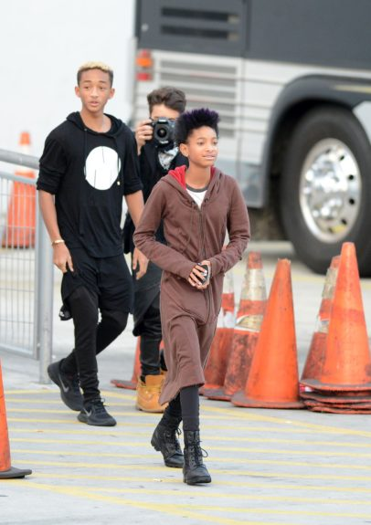 """Willow Smith and her brother Jaden Smith are seen outside Justin Bieber's """"Believe Tour"""" concert at American Airlines Arena in Miami, Florida."""