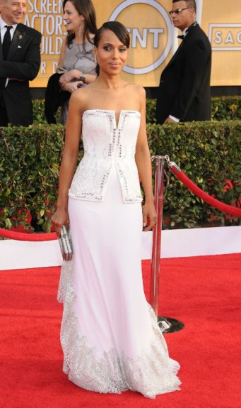 Kerry Washington attending the 19th Annual Screen Actors Guild Awards held at The Shrine Auditorium in Los Angeles, California.