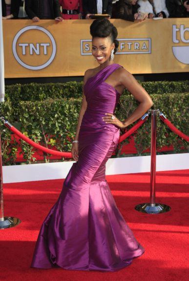 Teyonah Parris attends the 19th Annual Screen Actors Guild Awards held at The Shrine Auditorium in Los Angeles, California.